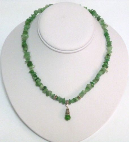 Green Jade Necklace with Pendant